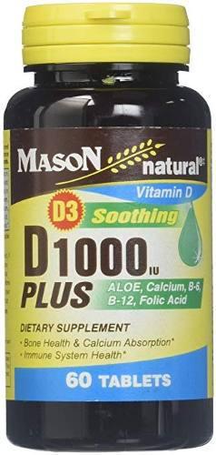 Mason vitaminas d 1000 ui plus aloe / calcio / b6 / b12 /