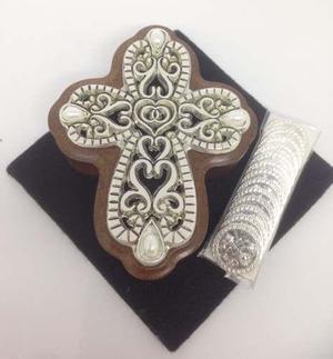 Arras chapa plata cruz abundancia