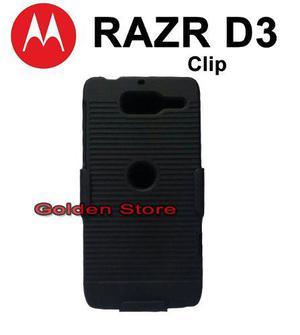 Motorola razr d3 xt919 funda con clip policarbonato