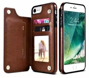 Funda cubierta tarjetero cartera iphone 7 y 8 mica gratis!