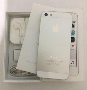 Iphone 5s 16gb plata libre caja con accesorios seminuevo
