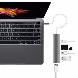 Macbook Type C, Convertidor A: Usb3, Hdmi 4 K, Card Reader