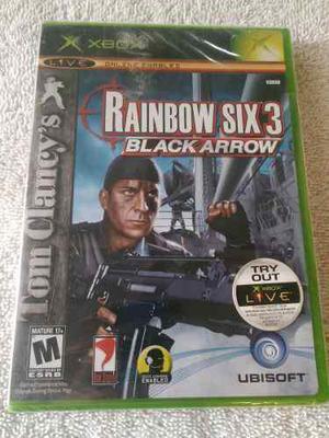 Rainbow six 3 black arrow xbox clasico juego nuevo y sellado