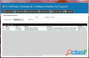 Sistema de cobranza rcs software