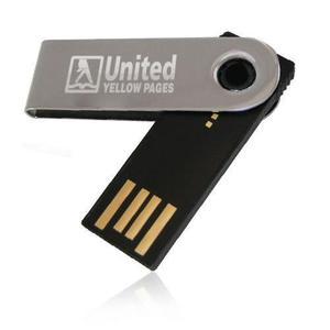 50 memorias usb flash pico twist personalizadas - 8gb (plata