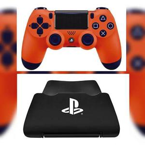 Control ps4 edicion sunset orange + base stand original envi
