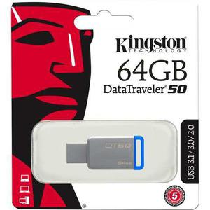 Kingston memoria usb datatraveler flash drive 3.0 64gb dt50