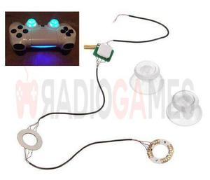 Luces led para control de ps4 + palancas transparentes, leds