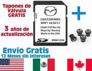 Mapas gps tarjeta mazda 3 2 6 cx3 cx5 cx9 mx5 versión j