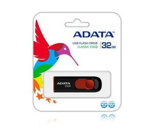 Memorias usb 32gb retractil 2.0 negro con rojo garantia