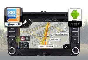 Navegador mapas gps estereo multimedia pantalla android 2018