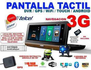 Pantalla tactil monitor 3g gps android camara reversa dvr
