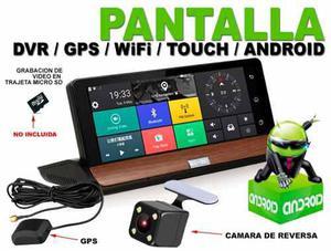 Pantalla tactil monitor 7'' gps android camara reversa dvr