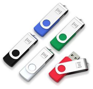Paquete de 5 memorias flash usb 2.0 mosdart 32gb -5 colores