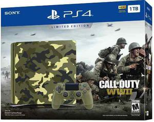 Ps4 slim edición especial call of duty wwii 1tb barato