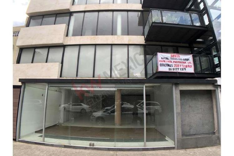 Polanco renta local comercial a pie de calle esq presidente