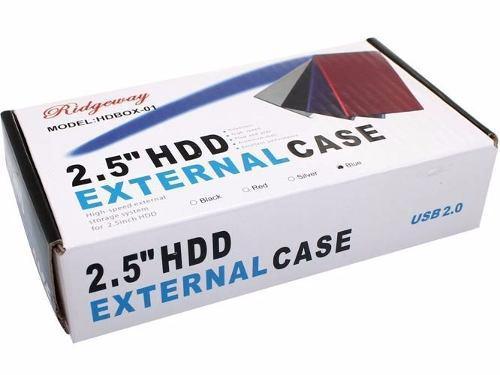 Case gabinete externo disco duro 2.5 sata usb carcasa