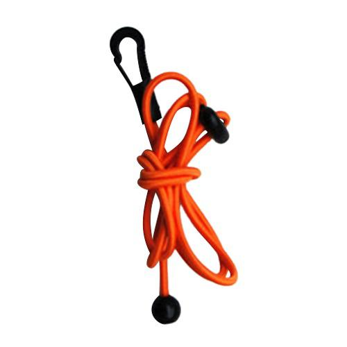 1.2m 4mm elastic kayak paddle leash bungee fishing rod pole