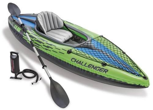 Barca kayac inflable individual remo de aluminio enviogratis