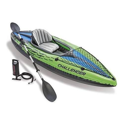 Intex - barca kayac inflable con remo, 2.74m bote lancha