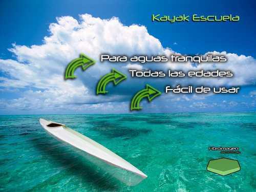 Kayak escuela en fibra de vidrio