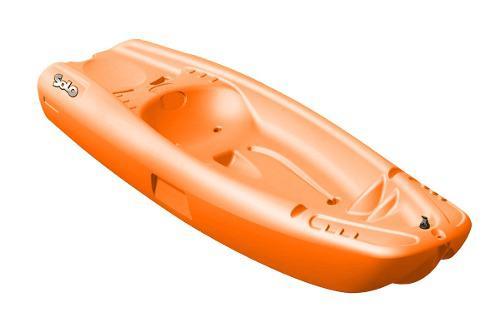 Kayak individual rígido color naranja