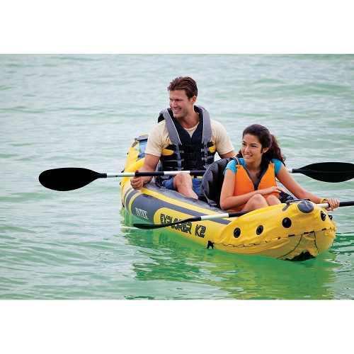Kayak inflable c/ 2 remos de aluminio y bomba envio gratis