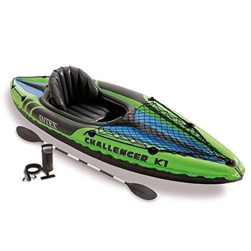 Kayak inflable challenger k1 con remos y bomba incluidos