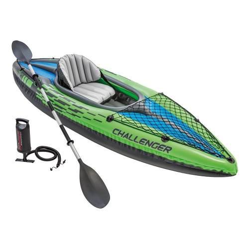 Kayak inflable lancha intex individual con remo, bomba