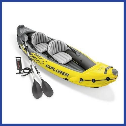 Kayak inflable lancha y remo intex 2 personas | envío