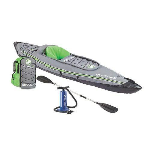 Kayak inflable quikpack con remo y mochila sevylor coleman