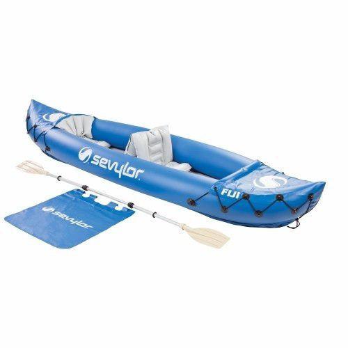 Kayak inflable sevylor fiji para dos personas. remo y bolsa