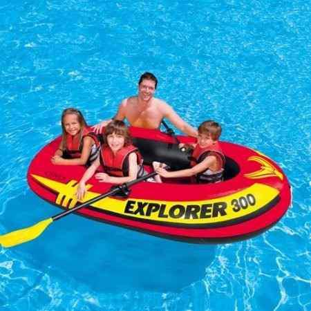 Lancha 3 personas kayak inflable intex remo y bomba