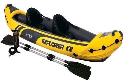 Lancha inflable rio lago kayak intex explorer k2 2 personas