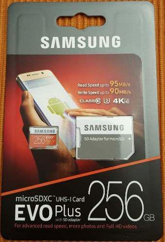 256gb micro sd sdxc samsung evo plus 4k 95mb/s clase10 u3