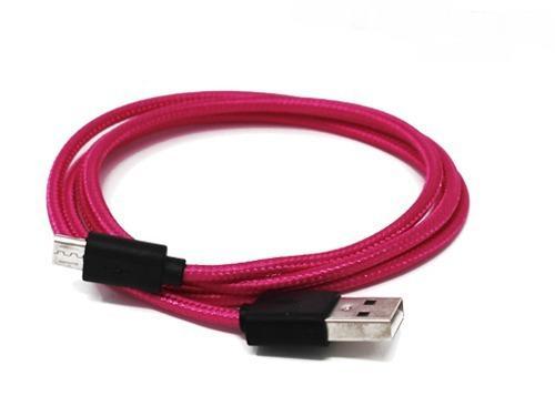 Cable celular v8 cargador micro usb reforzado uso rudo tela