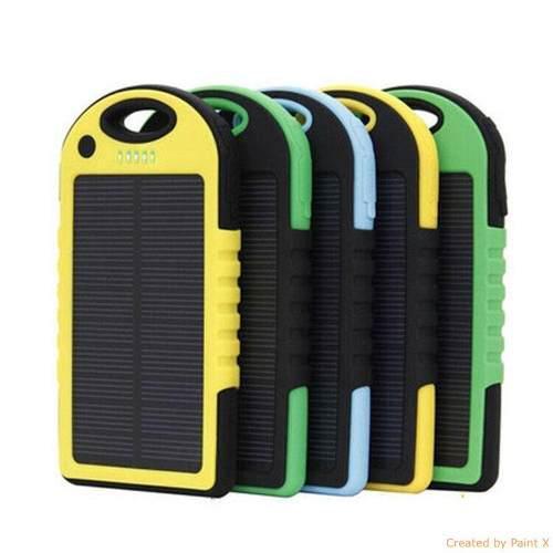 Cargador bateria emergencia power bank solar lampara