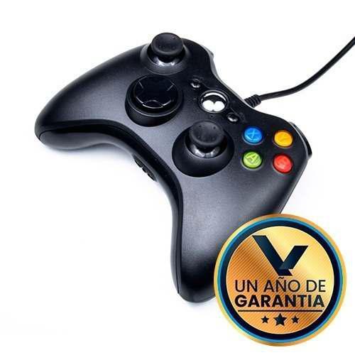 Control alambrico negro para xbox 360:: virtual zone