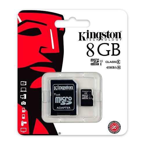 Memoria micro sd 8gb kingston manejamos mayoreo clase 4