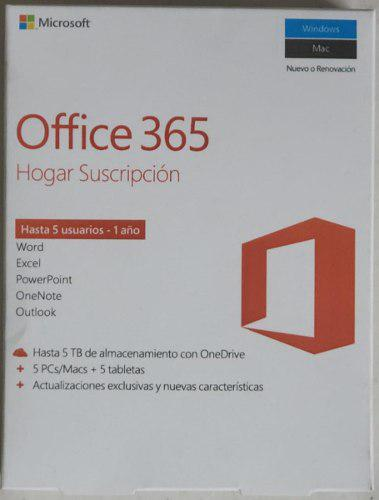 Office 365 home premium 5 usuarios 6gq-00088 esd 25equipos
