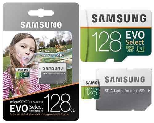 Samsung evo select 4k 128gb 100m/s microsd memoria micro sd