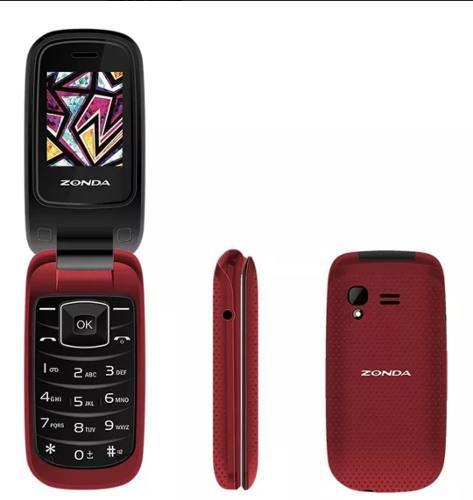 Telefono celular de tapa folder flip zm120. envio gratis