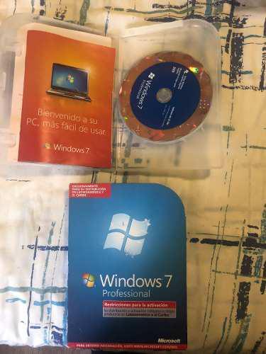 Windows 7 profesional en caja original