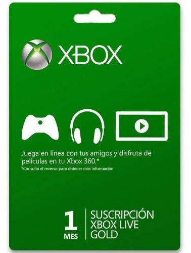 Xbox live gold 1 meses código - super promo