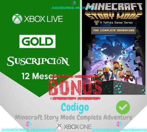 Xbox live gold 12 meses + minecraft xbox one
