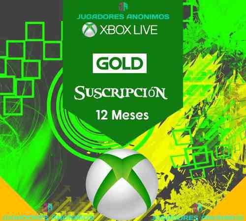 Xbox live gold 12 meses xbox one xbox 360