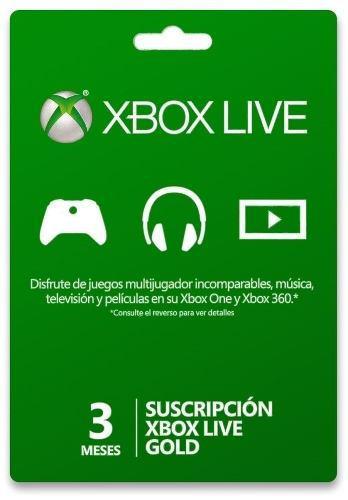 Xbox live gold 3 meses código entrega inmediata promoción