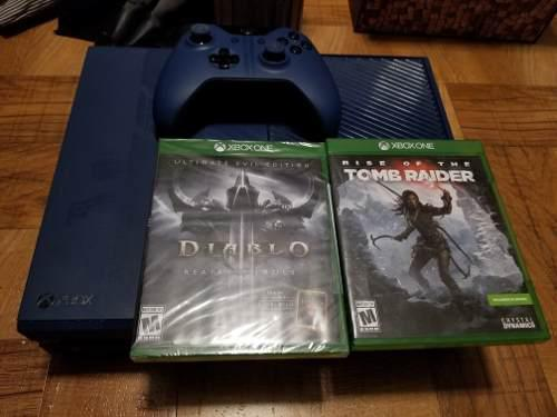 Xbox one edicion forza 1tb con 3 juegos 1 control tomb raide