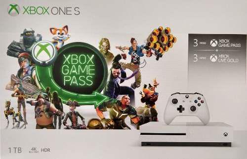 Xbox one s 1tb + 3 meses game pass + 3 meses xbox live gold
