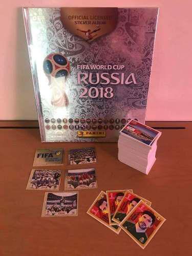 Album platino panini mundial rusia 2018 lleno sin pegar+set